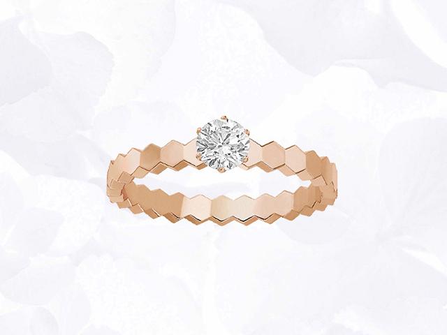 蜂·爱 玫瑰金钻石戒指|野兽派