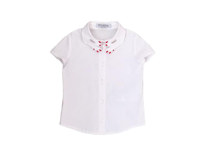 vivetta经典白色双手刺绣领衬衫